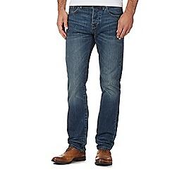 J by Jasper Conran - Blue Vintage Wash Straight Jeans