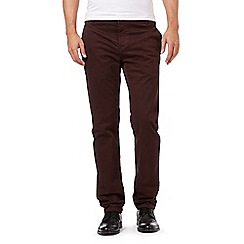 J by Jasper Conran - Maroon regular fit chinos