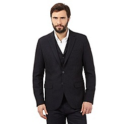 J by Jasper Conran - Big and tall navy textured blazer