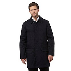 J by Jasper Conran - Big and tall navy twill mac coat