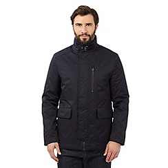 J by Jasper Conran - Big and tall navy multi pocket funnel jacket