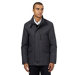 J by Jasper Conran - Big and tall grey funnel jacket