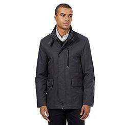 J by Jasper Conran - Big and tall grey funnel jacket