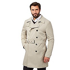 J by Jasper Conran - Big and tall beige shower resistant mac coat