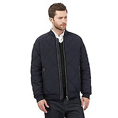 J by Jasper Conran - Navy quilted baseball jacket
