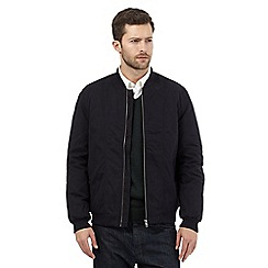 J by Jasper Conran - Big and tall black baseball jacket