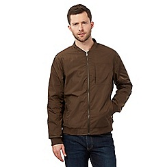 J by Jasper Conran - Big and tall khaki bomber jacket