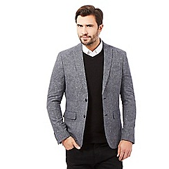 J by Jasper Conran - Big and tall grey textured blazer