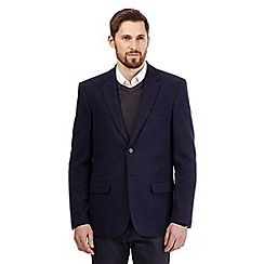 J by Jasper Conran - Big and tall navy knitted jersey blazer
