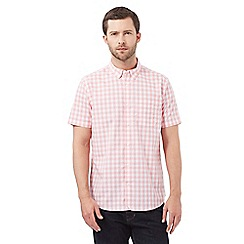 J by Jasper Conran - Big and tall pink gingham print shirt