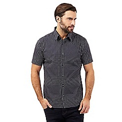 J by Jasper Conran - Black polka dot print shirt