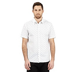 J by Jasper Conran - Big and tall white square print shirt
