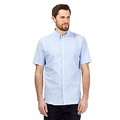J by Jasper Conran - Big and tall light blue linen blend shirt