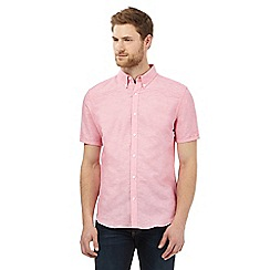 J by Jasper Conran - Big and tall pink linen blend short sleeved shirt