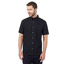 J by Jasper Conran - Navy linen blend shirt
