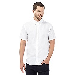 J by Jasper Conran - Big and tall white linen blend shirt