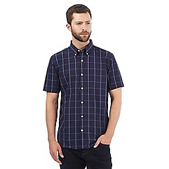 J by Jasper Conran - Big and tall navy window pane checked print shirt