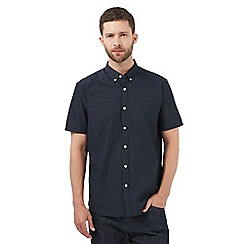 J by Jasper Conran - Navy polka dot regular fit shirt