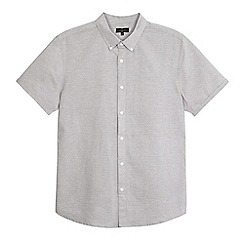 J by Jasper Conran - Big and tall grey short sleeved shirt