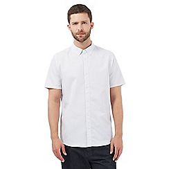 J by Jasper Conran - White diagonal patterned regular fit shirt