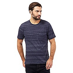 J by Jasper Conran - Big and tall navy space dye t-shirt