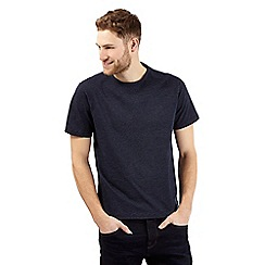 J by Jasper Conran - Big and tall navy jacquard dot t-shirt