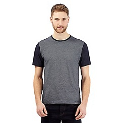 J by Jasper Conran - Big and tall navy jacquard t-shirt