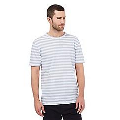 J by Jasper Conran - Big and tall light blue textured stripe t-shirt