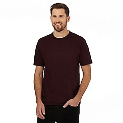 J by Jasper Conran - Dark red textured yoke t-shirt