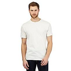 J by Jasper Conran - Big and tall off white textured t-shirt