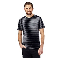 J by Jasper Conran - Big and tall navy textured dot stripe print t-shirt