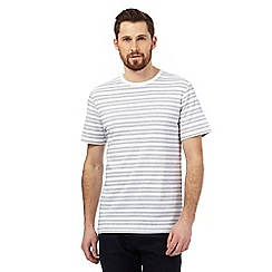 J by Jasper Conran - Big and tall white textured dot stripe print t-shirt