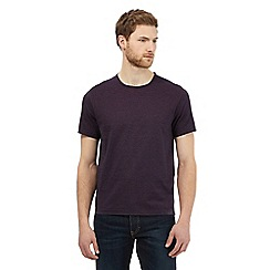 J by Jasper Conran - Big and tall purple striped print t-shirt