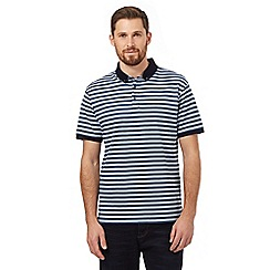 J by Jasper Conran - Big and tall blue textured stripe polo shirt