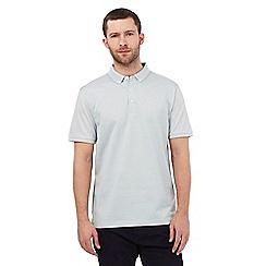 J by Jasper Conran - Big and tall light green jacquard polo shirt