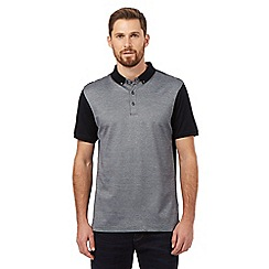 J by Jasper Conran - Navy front panel polo shirt