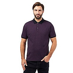 J by Jasper Conran - Big and tall purple striped polo shirt