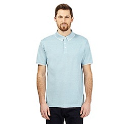 J by Jasper Conran - Big and tall turquoise birdseye textured polo shirt