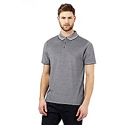 J by Jasper Conran - Grey textured polo shirt