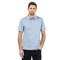 J by Jasper Conran - Big and tall light blue birdseye polo shirt