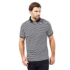 J by Jasper Conran - Big and tall navy striped polo shirt