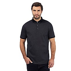 J by Jasper Conran - Black dot print polo shirt