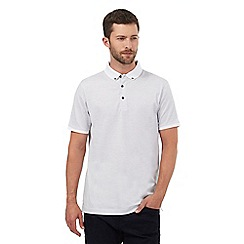 J by Jasper Conran - White dot print polo shirt