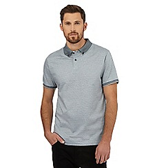 J by Jasper Conran - Light blue striped print polo shirt
