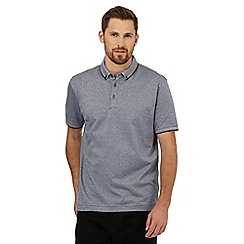 J by Jasper Conran - Navy textured spot polo shirt