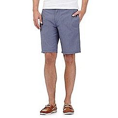 J by Jasper Conran - Blue textured chino shorts