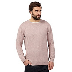 J by Jasper Conran - Big and tall pink crew neck jumper