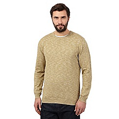 J by Jasper Conran - Big and tall green crew neck jumper