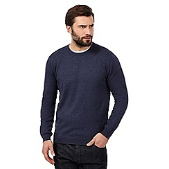 J by Jasper Conran - Big and tall navy crew neck jumper