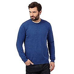 J by Jasper Conran - Big and tall blue crew neck jumper